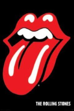 Plakat z logo Rolling Stones'ów ;)