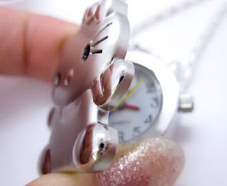 naszyjnik-zegarek hello kitty