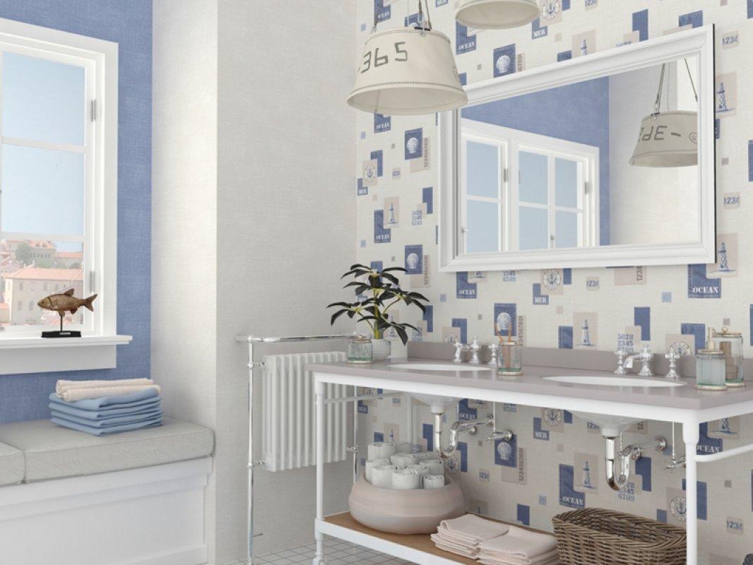Łazienka w kolorach błękitu