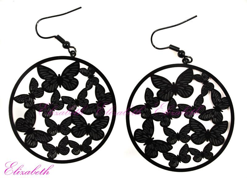 Kolczyki koła motylki