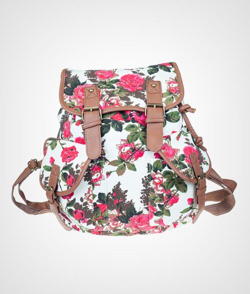 Plecak w róże