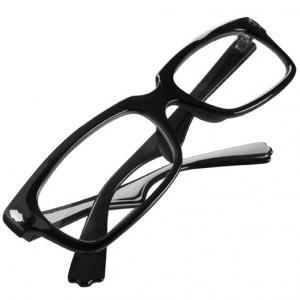 Okulary z czarną oprawką (lecznicze)
