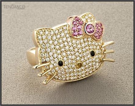 Diamentowy pierścionek Hello Kitty