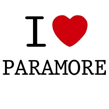 T-shirt I love Paramore