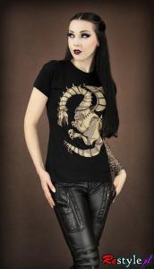 T-shirt SMOK Steampunk miedziany, mechaniczny, koła zębate