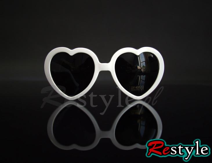 Okulary białe serca