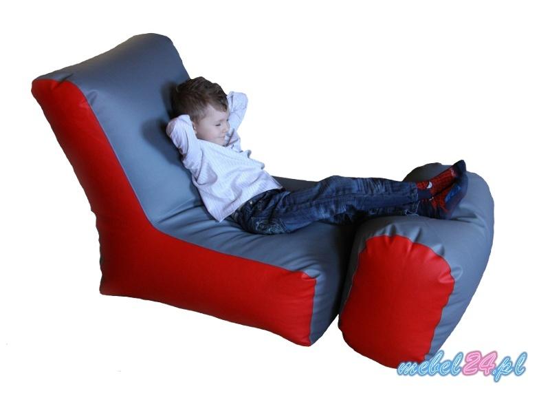 wygodny fotel relaksacyjny z podnóżkiem