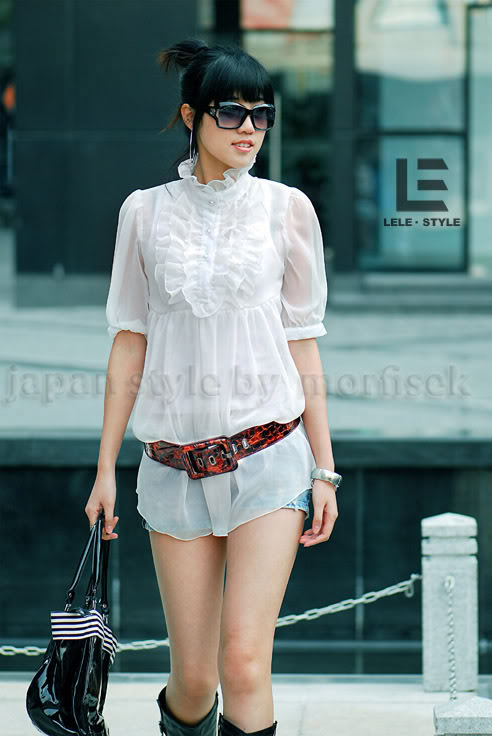 Bluzka biała Japan Style