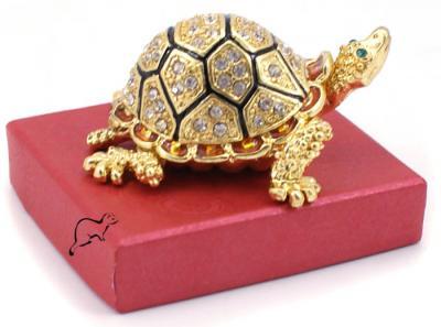 Szkatułka Złoty Żółw 141 w stylu Faberge