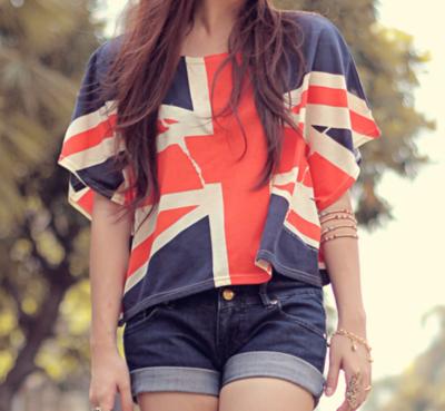 Koszulka z flagą Wielkiej Brytani