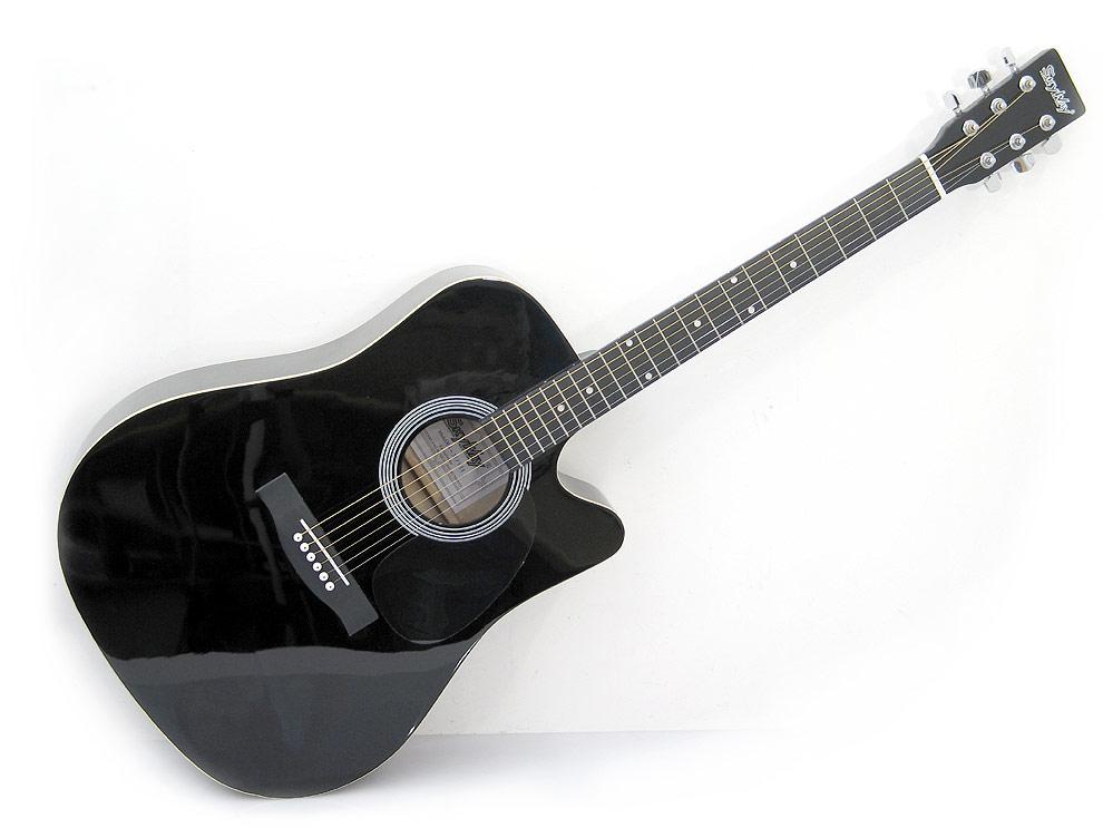 Gitara Akustyczna - Czarna.