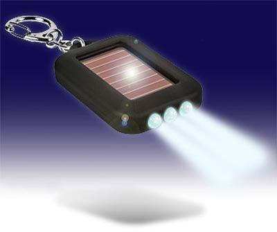 Brelok latarka na baterie słoneczne