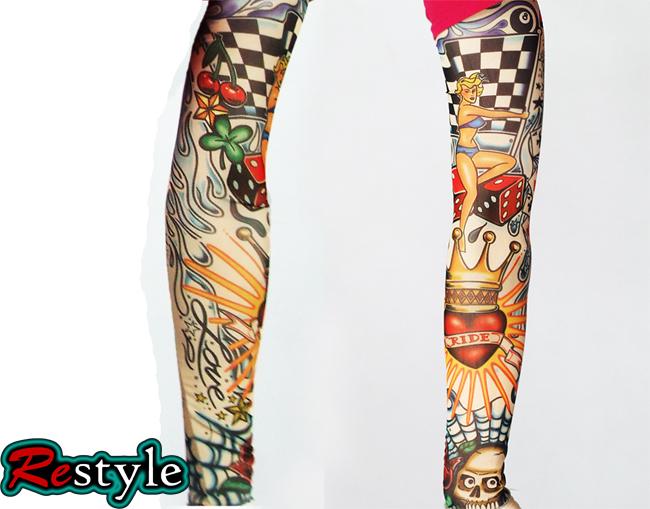 Rękawek tatuaż szachownica