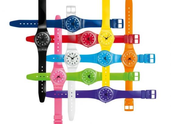 kolorowy duży zegarek ;DDDD