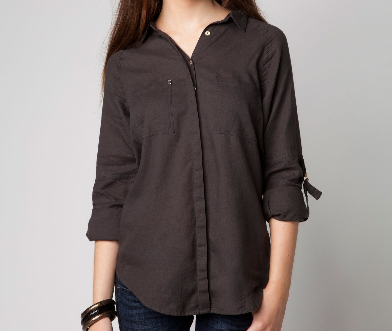 Luźna koszula Bershka