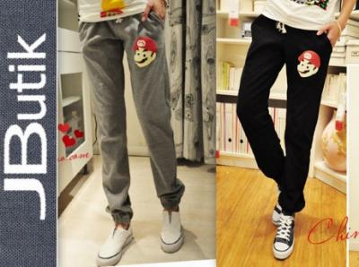 P033 - Spodnie Dresowe Komfort Nadruk Japan Style