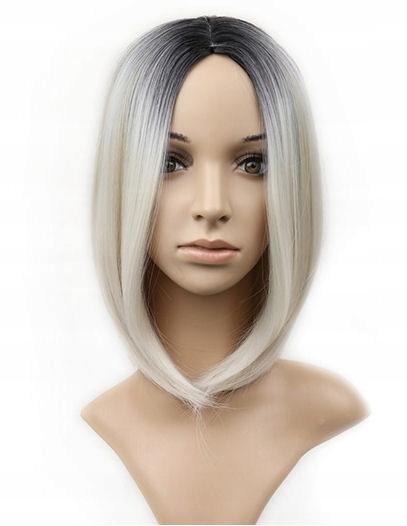 Peruka BOB termoodporna chłodny blond frozen blond