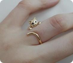 pierścionek kotek