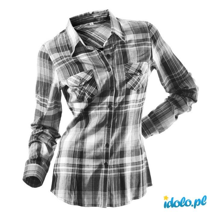 Damska koszula w kratę
