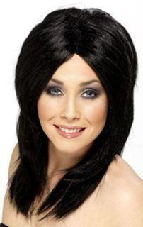 super peruka czarna