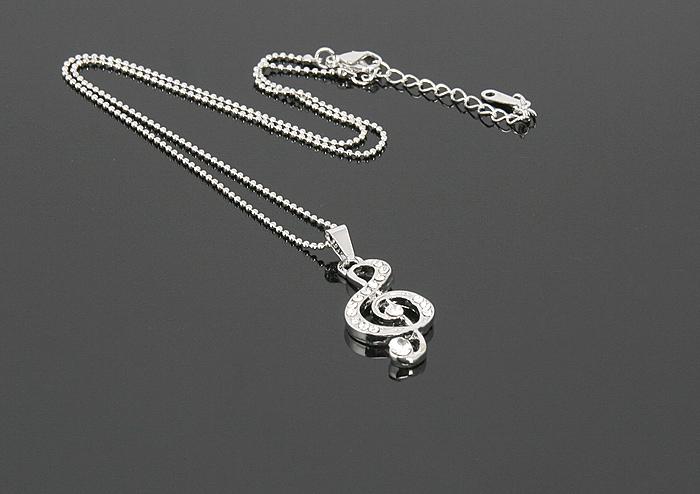 Naszyjnik - klucz wiolinowy