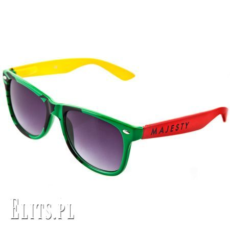Okulary w kolorach rasta
