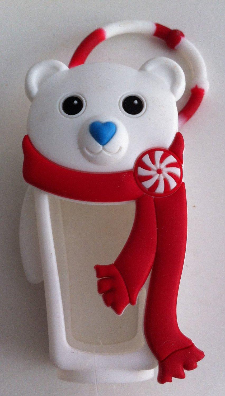 Bath & Body Works White Polar Bear Pocketbac Holder