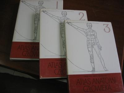 Atlas anatomii człowieka Kiss 3 tomy