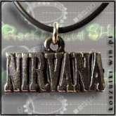 Naszyjnik z napisem Nirvana