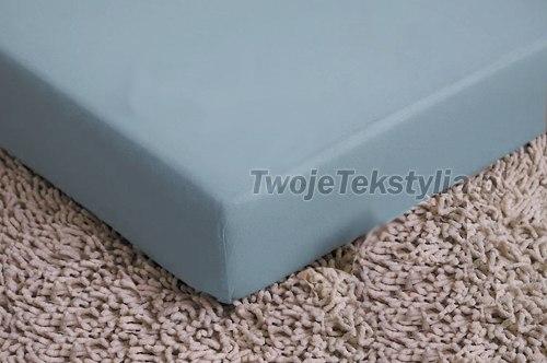 Prześcieradło z gumką z satyny bawełnianej w rozmiarze 200 x 220 (100% bawełny) - kolory: białe, ecru, błękitne