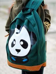 plecak panda turkus
