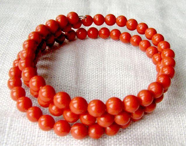 Bransoletka Czerwone korale @:-)