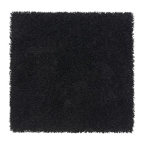 Czarny kwadratowy dywan