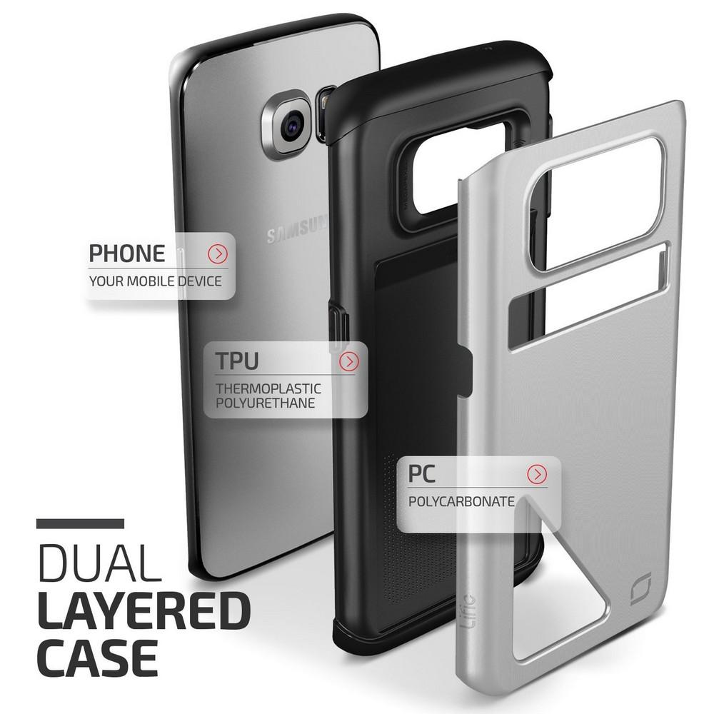 Etui Samsung Galaxy S6 Edge srebrne