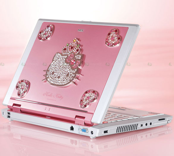 Różowy laptop Hello Kitty