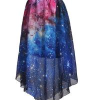 Harajuku Galaxy Chiffon Skirt