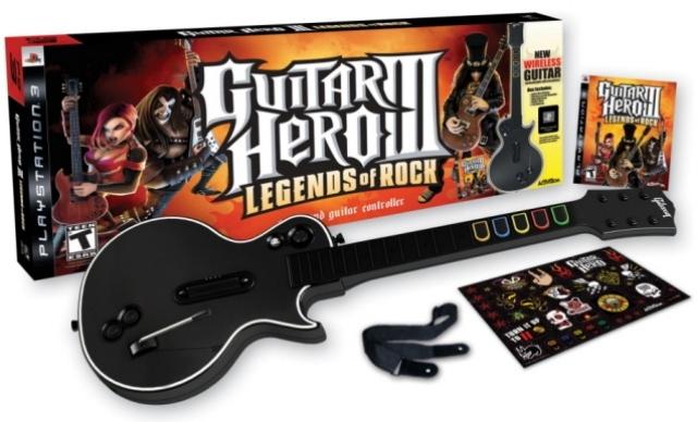 Play Station 3 z grą The Guitar Hero !