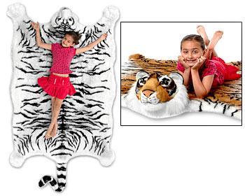 Gigantyczny tygrysi dywanik