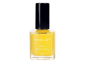 Żółty, jaskrawy lakier do paznokci