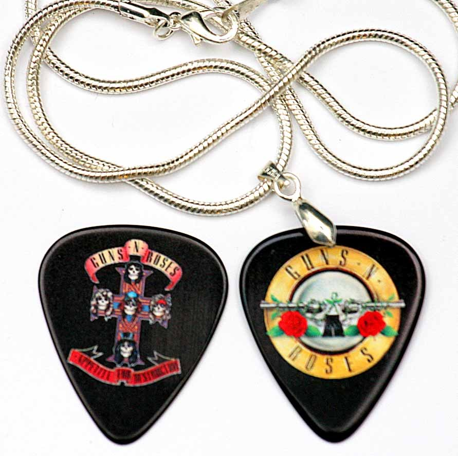 wisiorek Guns N' Roses kostka