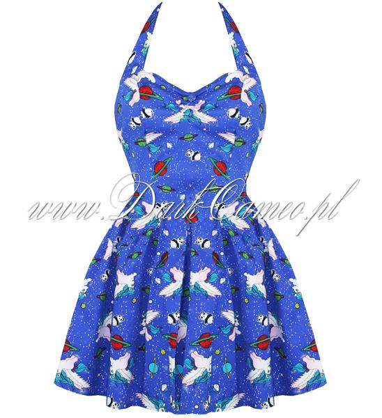 Sukienka HELL BUNNY Galaxy Panda gothic retro pyl