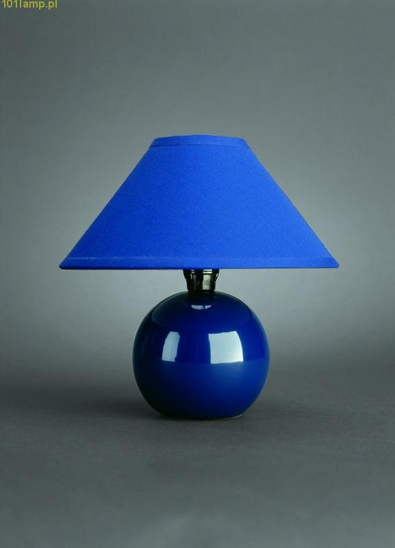Lampka nocna niebieska .