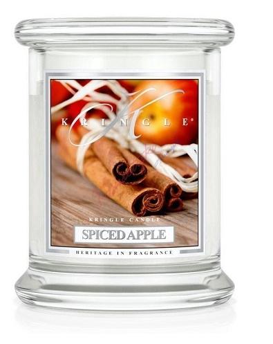 Kringle Candle Świeca Zapachowa Medium Classic Jar Średni Słój Spiced Apple Jabłko Z Przyprawami