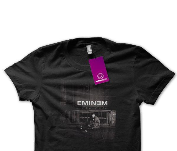 Bluzka z nadrukiem twarzy Eminema
