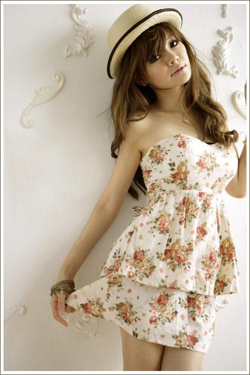 sukienka w kwiatki Japan Style