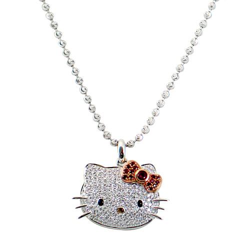 diamentowy naszyjnik hello kitty