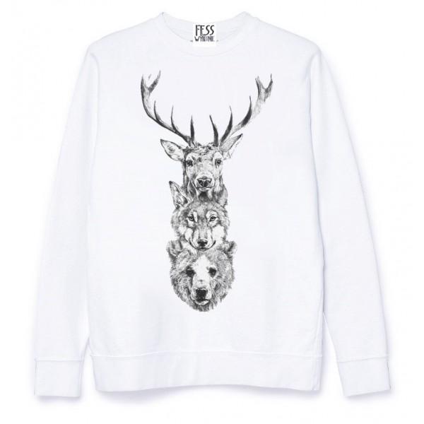 Bluza ANIMALS TREE biała