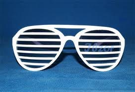 Okulary żaluzje białe