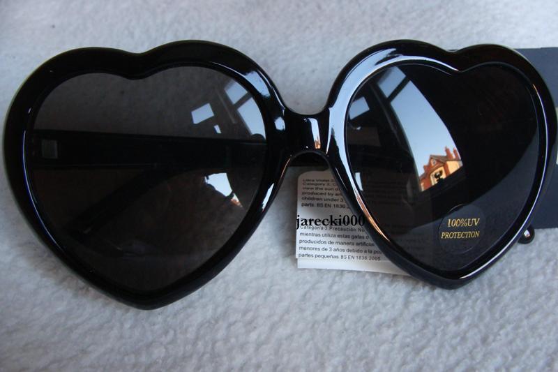 Okulary serca, atmosphere. czarne