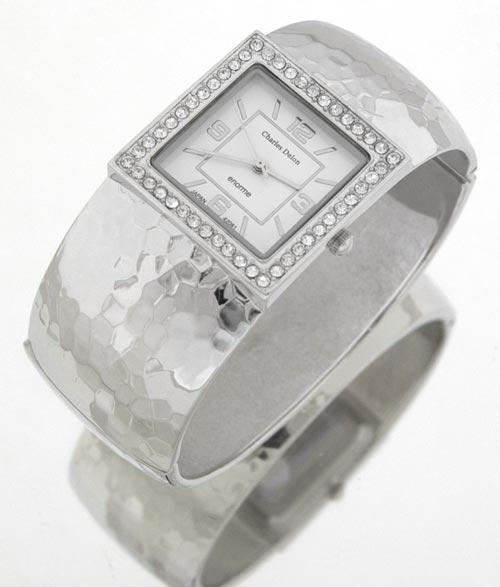 zegarek na rękę na bransolecie z brylancikami
